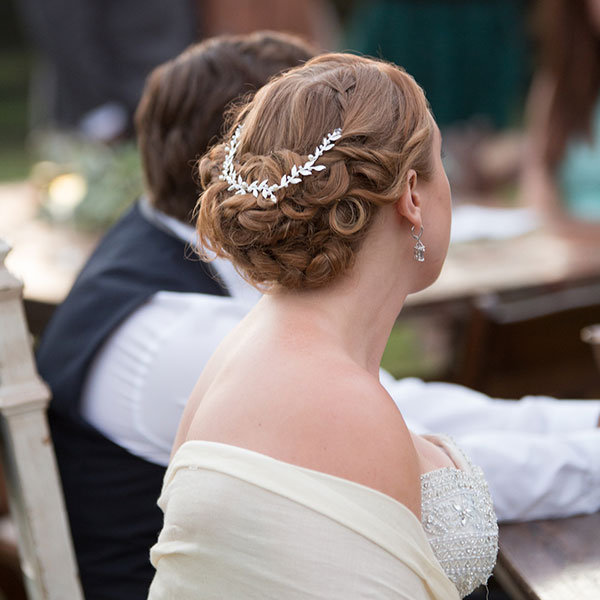 Wedding Hairstyle With Head Piece