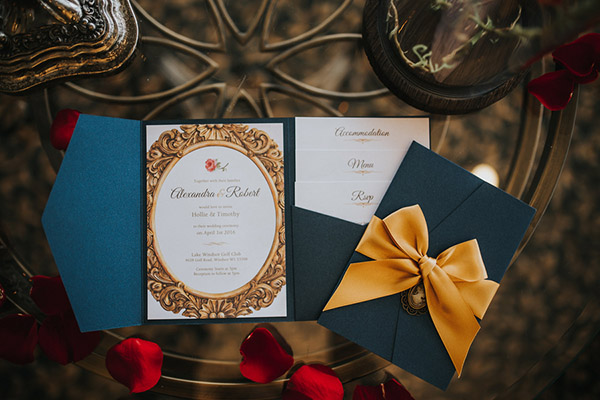 Be Our Guest Beauty and the BeastInspired Wedding Ideas BridalGuide