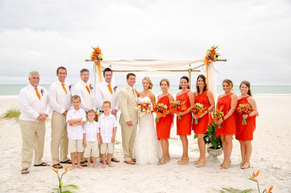 70 ideas for beach weddings bridalguide for Bridesmaid dresses for beach wedding theme