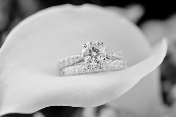 Solitaire Engagement Ring & Wedding Band