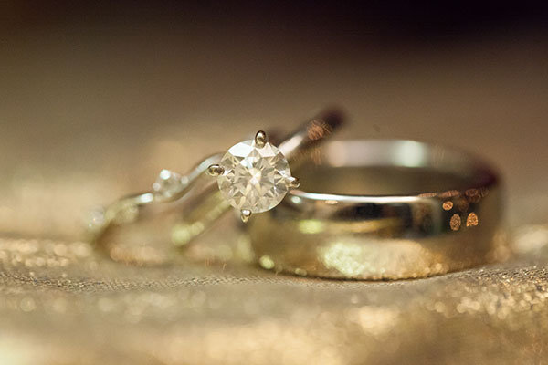 Solitaire Engagement Ring & Wedding Bands