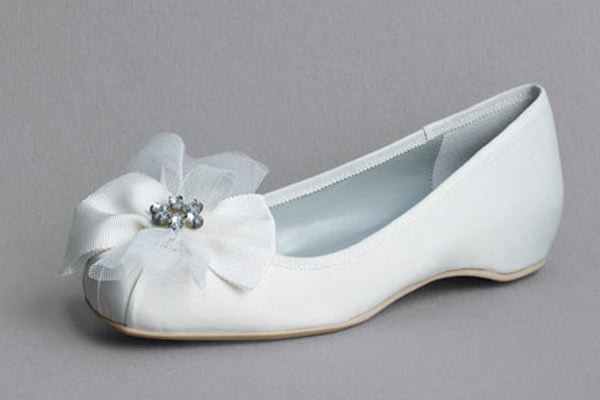 Ballerina Flats by White by Vera Wang