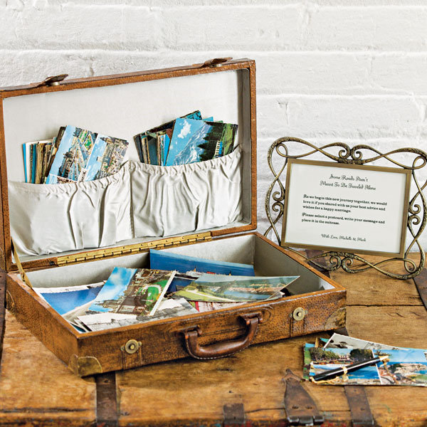 Easy: DIY Vintage Luggage Guest Book