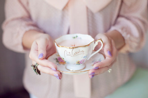 For Craft Masters: DIY Vintage Teacup Candles