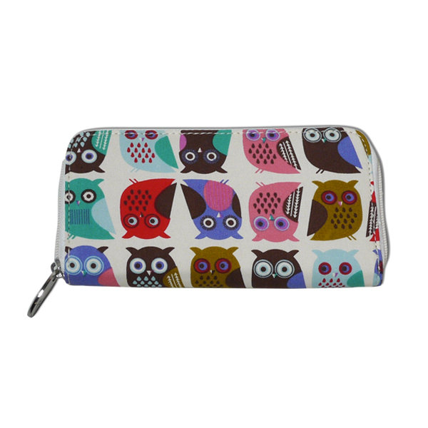 Bridesmaid Gifts: Owl Zip Wallet