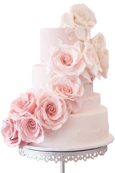 Luxe Ombré Rose Cake