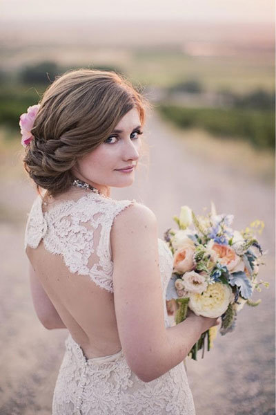 75 wedding hairstyles for every length bridalguide chignon junglespirit Images