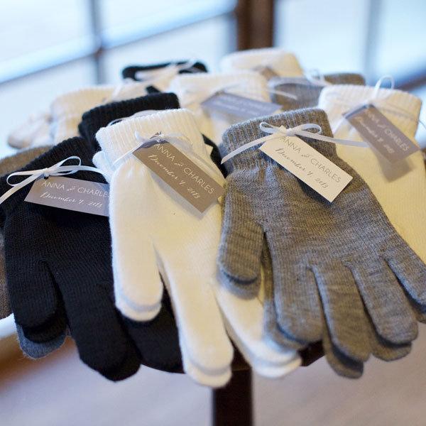 gloves for winter wedding favors