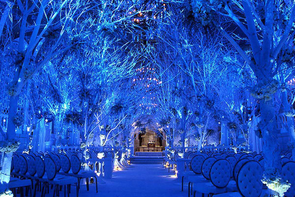 Ceremony Décor 136390 A Truly Magical Winter Wonderland Wedding