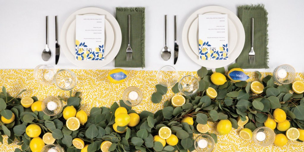 lemon wedding decorations