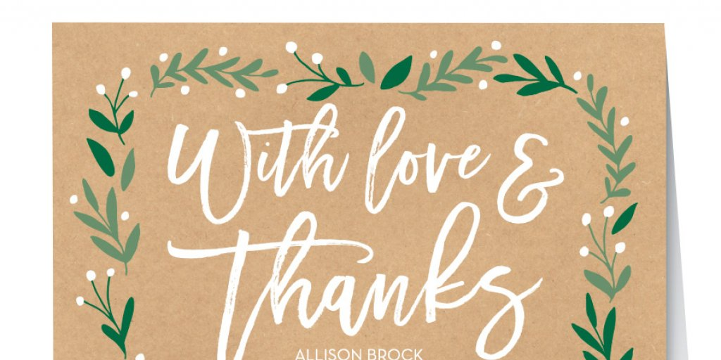 Modern wedding thank you notes