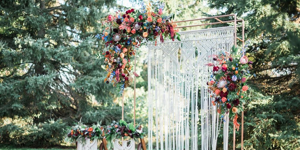 Macrame Wedding Ceremony Decor