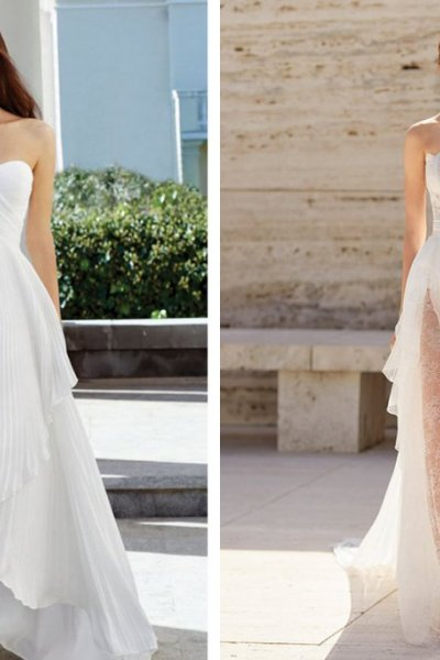 Assymmetrical Wedding Gowns Spring 2021