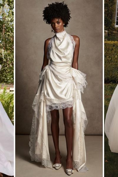 high drama wedding gowns