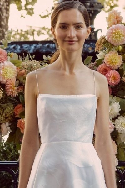 square neck wedding gowns