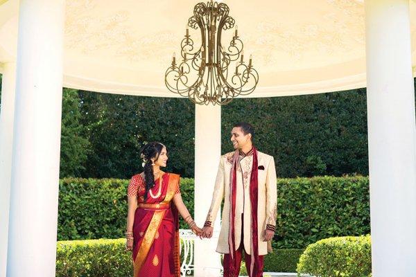 indian wedding bride and groom
