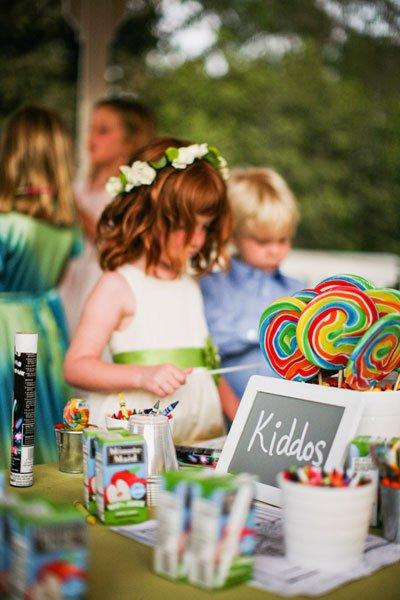 Mesa para crianças casamento