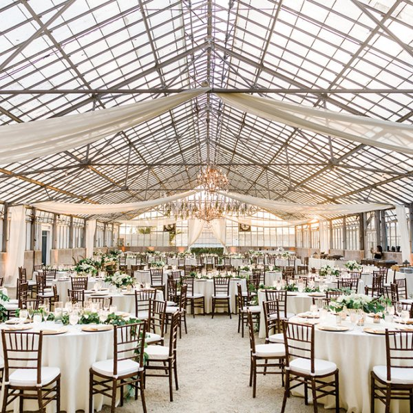 greenhouse wedding reception