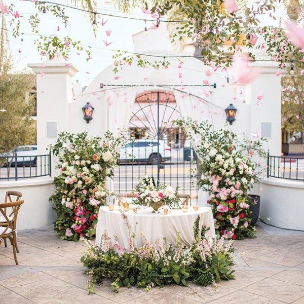 Paper crane wedding reception