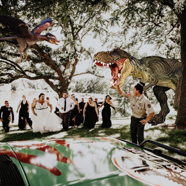 Jurassic Park Themed Wedding