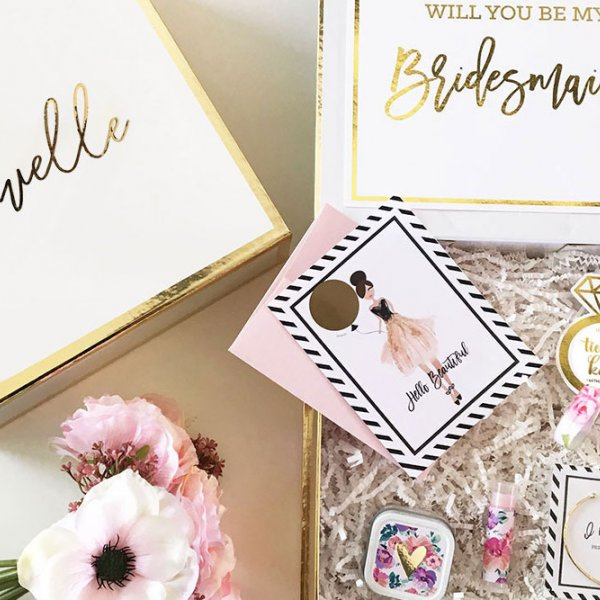 David's Bridal Bridesmaid Gift Box