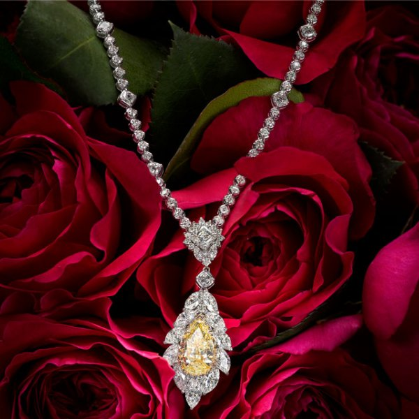 Christopher Designs Yellow Diamond Necklace