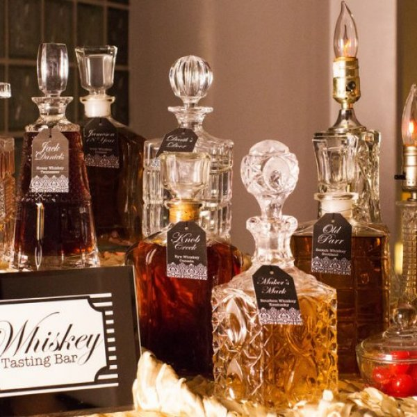 open bar at wedding
