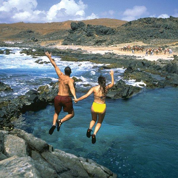 natural pool in aruba