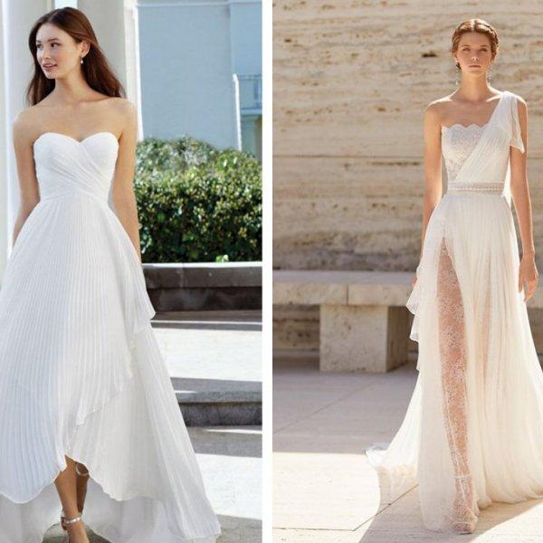Assymmetrical Wedding Gowns Spring 2021