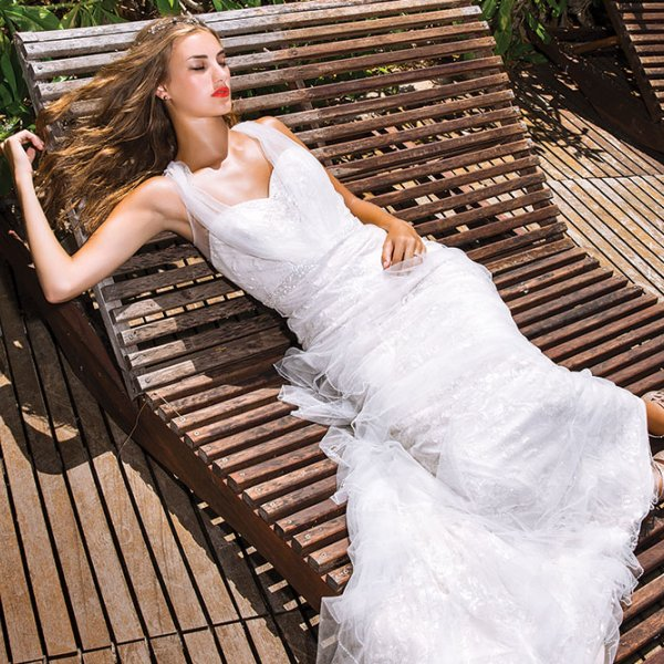 bride relaxing