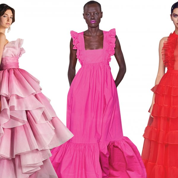 Pink and red wedding dresses