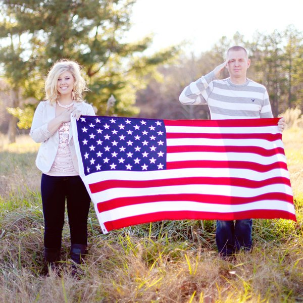Star-Spangled Love: Patriotic Engagement Photos