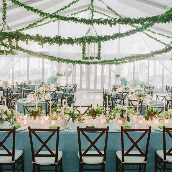 green winter wedding color palette