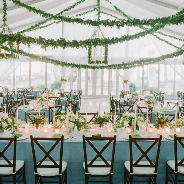 green winter wedding color palette