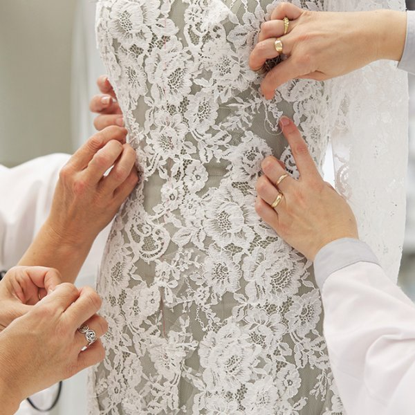 Making a Pronovias wedding gown
