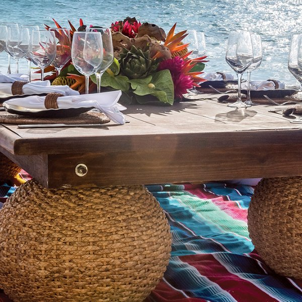 waterside table in mexico