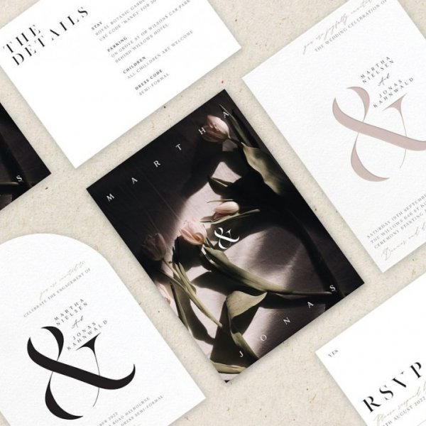 Paperlust Tulips Set Wedding Invitation