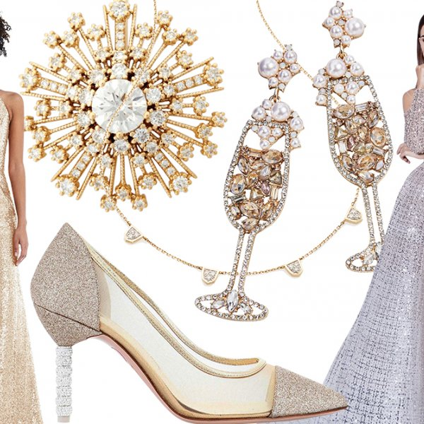 glittering gowns and sparkling accessories