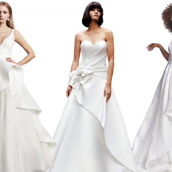 Asymmetrical wedding gowns