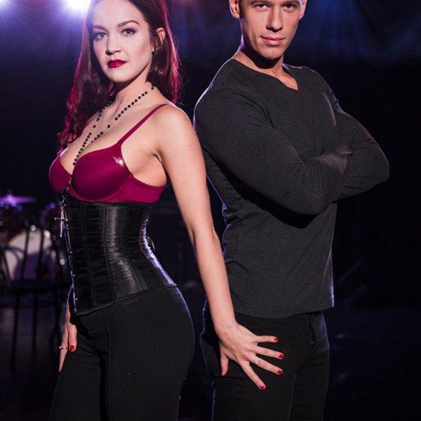 Lauren Zarkin and Contstantine Rousali in Cruel Intentions The Musical Experience