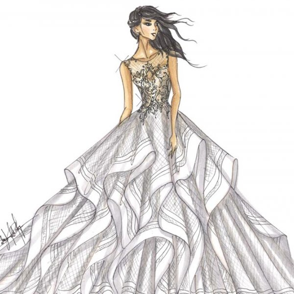 bridal market sketches