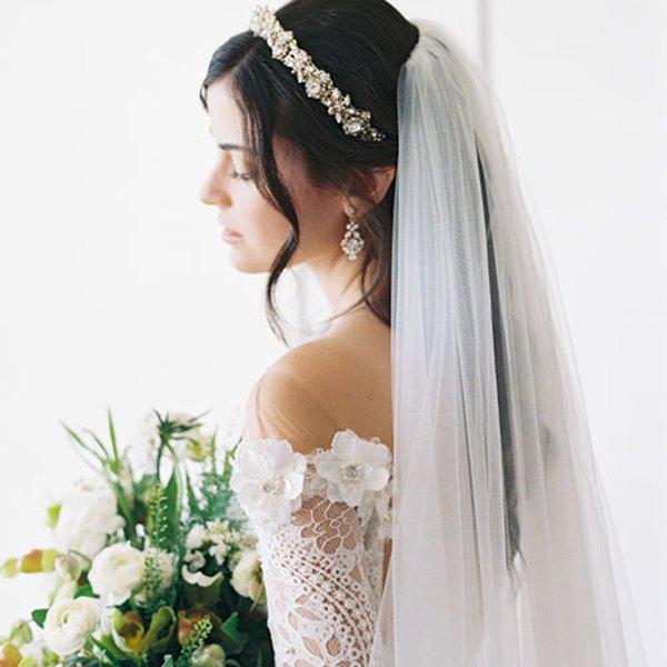 Rhinestone tiara by Bel Aire Bridal