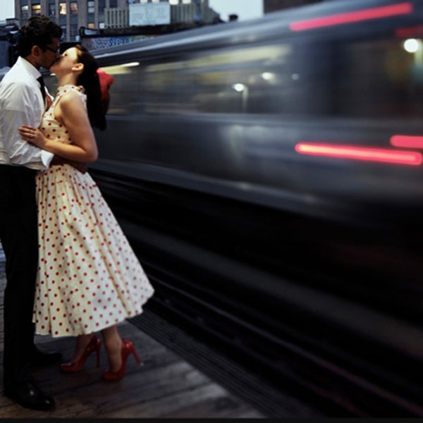 train engagement photo