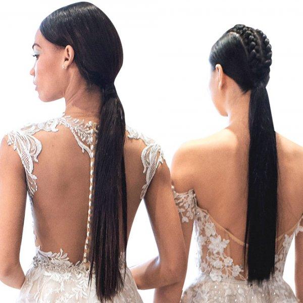 wedding ponytails