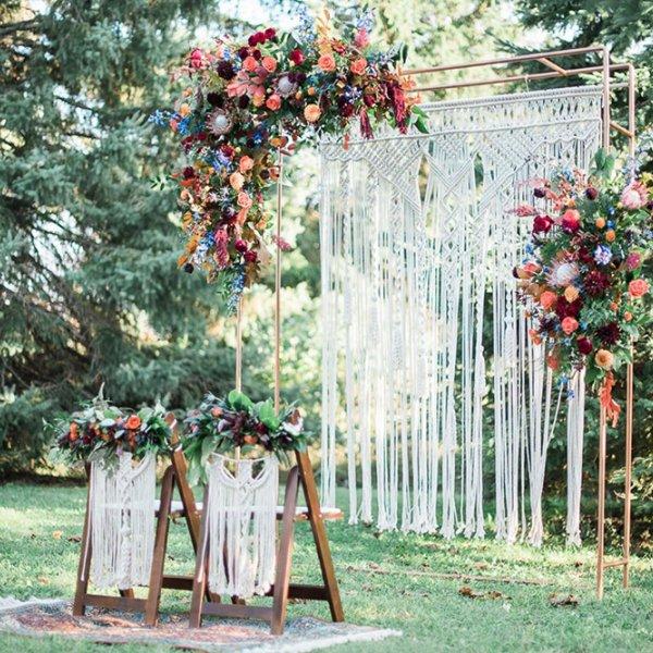 Macrame Wedding Ceremony Decor