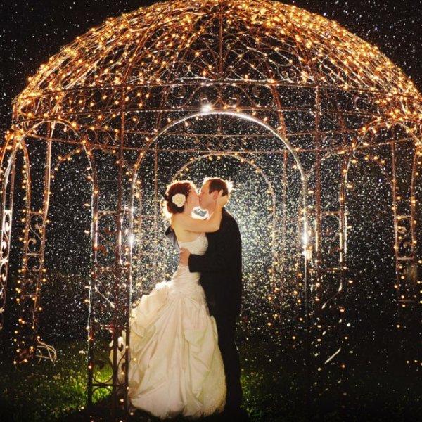night wedding photo