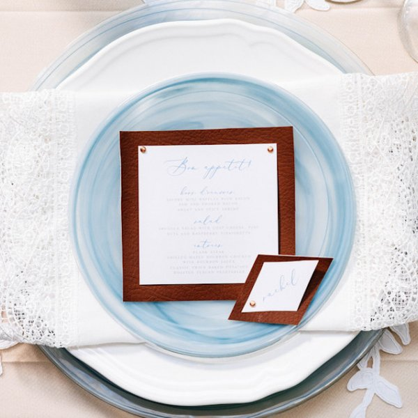 Place Settings from Real Weddings