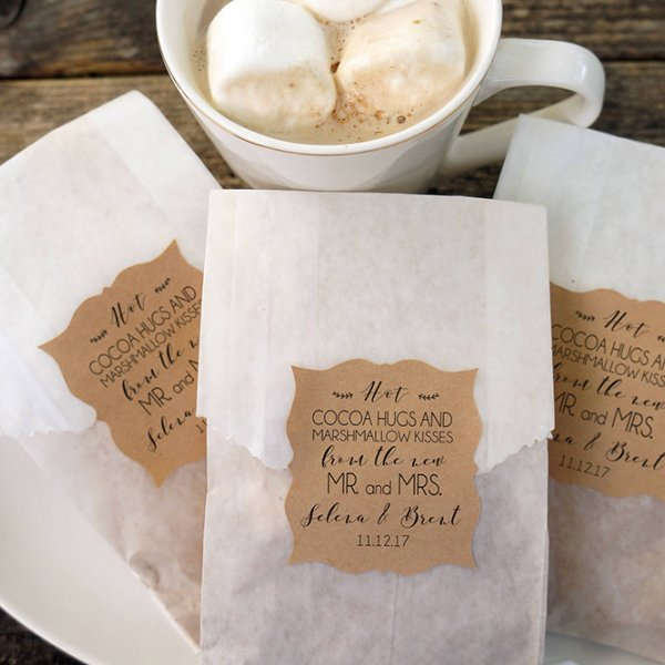 hot cocoa wedding favor