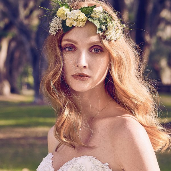 romantic waves wedding hair