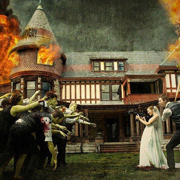 Unique wedding themes bridalguide the walking dead junglespirit Images